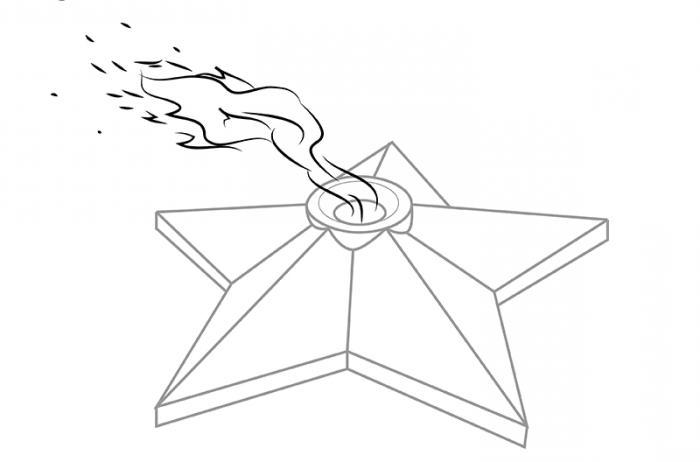 crtanje vječnoga plamena