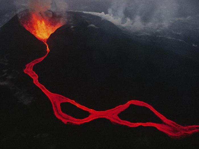 Struktura vulkana: fotografija