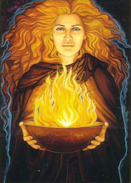 dea del fuoco sacrificale
