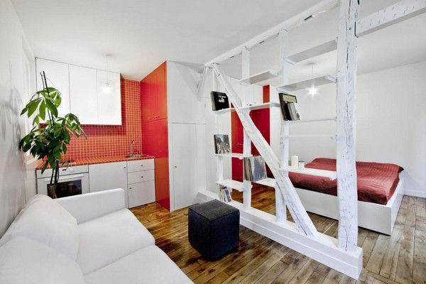 bellissimo interno di un piccolo appartamento
