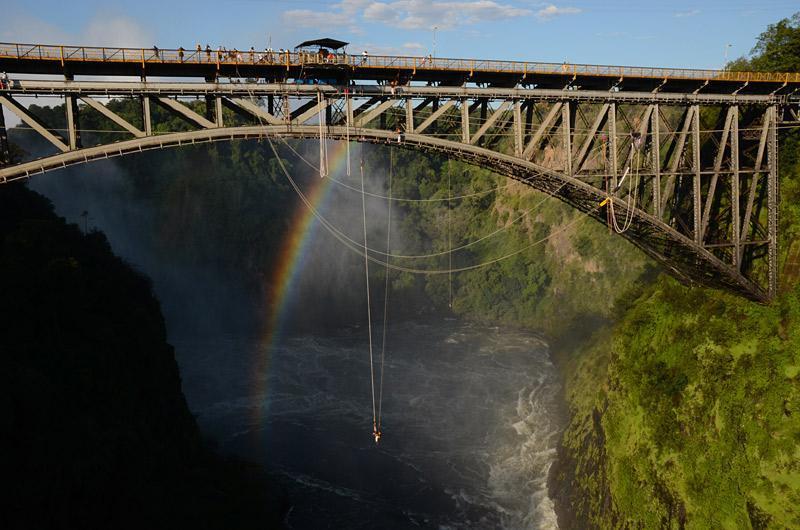 saltando a Victoria Falls