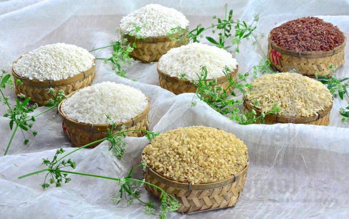 hranilne vrednosti riža