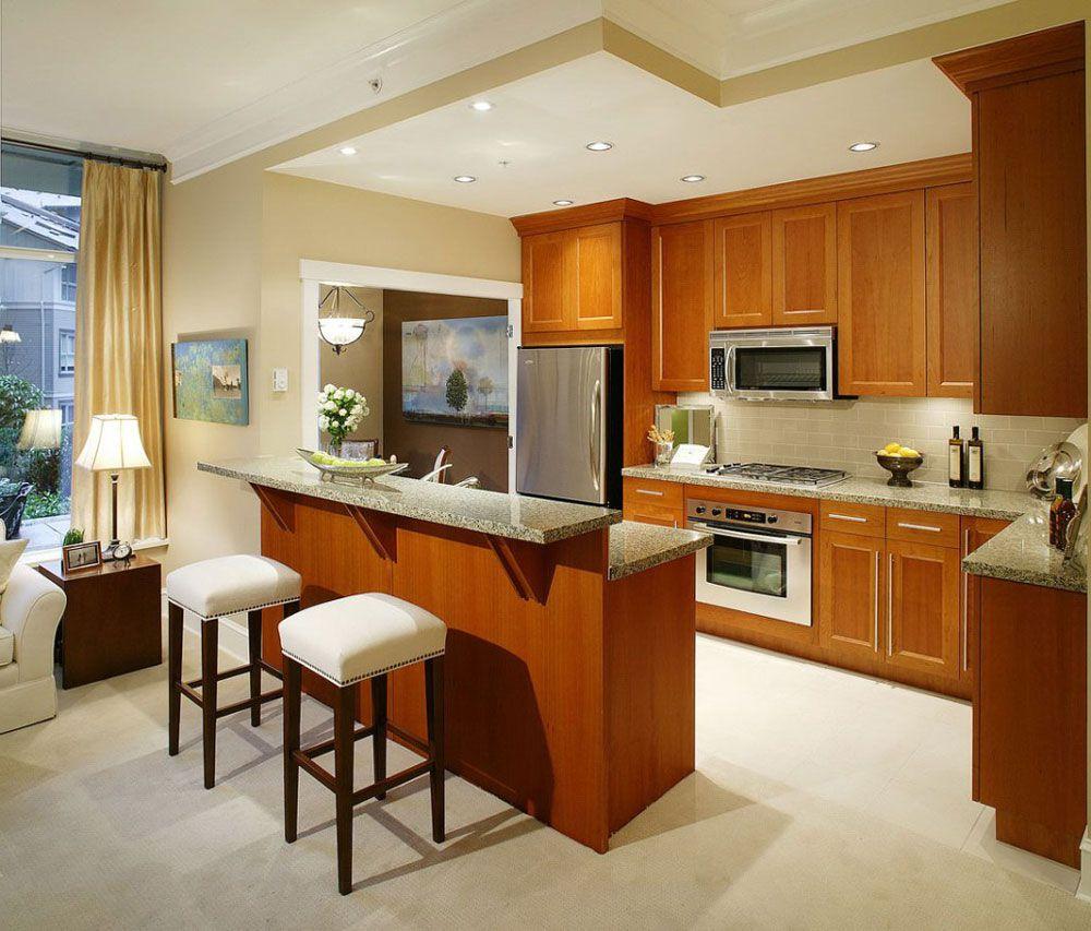 Design della cucina in un monolocale