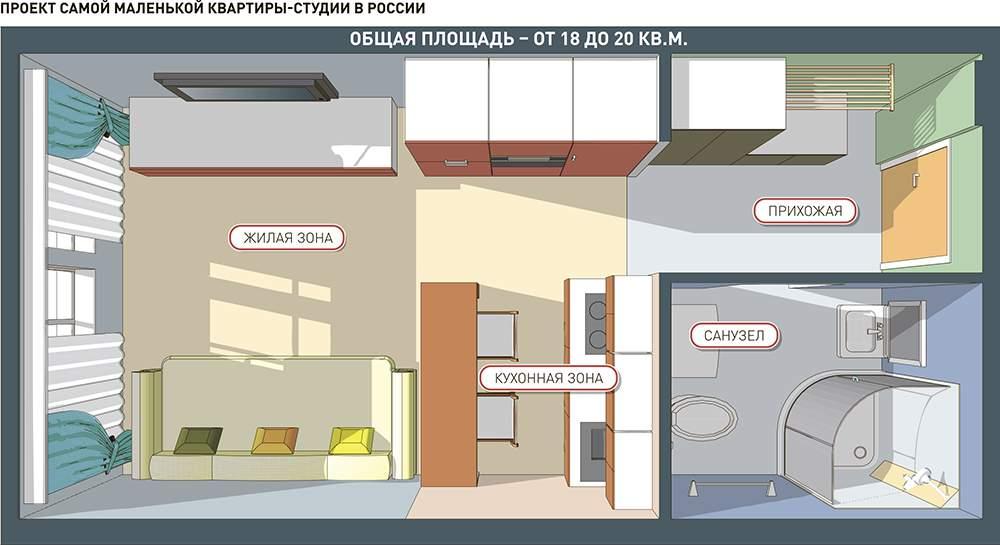 Appartamento monolocale di design