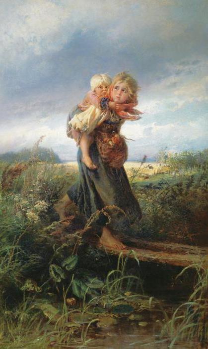 sliku djece koja bježe od oluje Makovskog