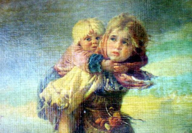 opis slike Makovskijeve djece koja trče od oluja
