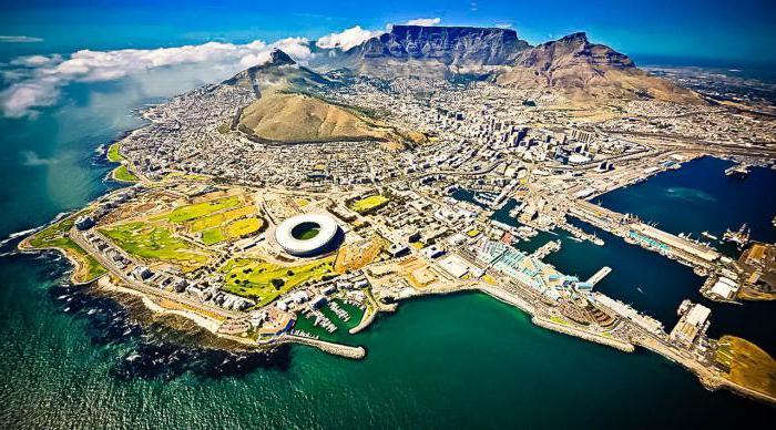 Area del Sud Africa