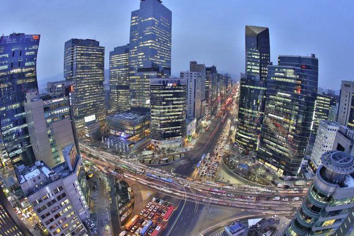 umieszczenie populacji Korei Południowej