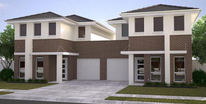casa di progetto per due famiglie