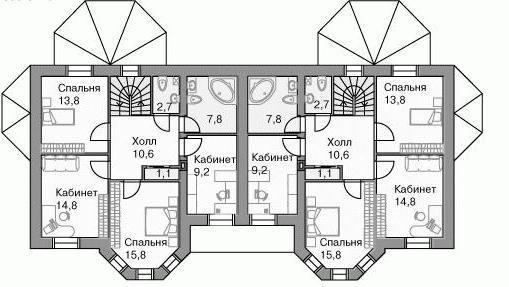 progetto di casa a due piani