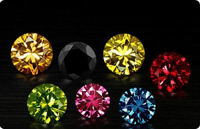 kolor i przejrzystość diamentu