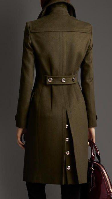 капут војног стила женски