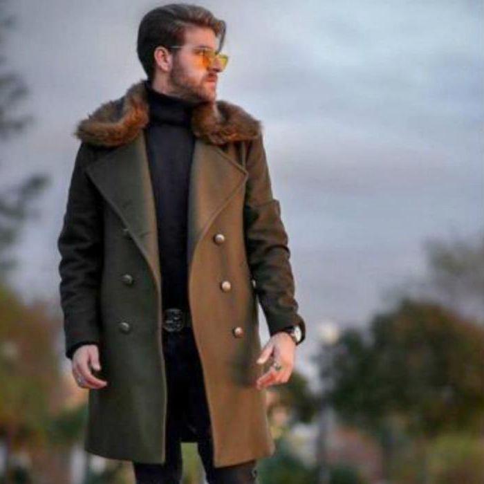 cappotto da uomo in stile militare