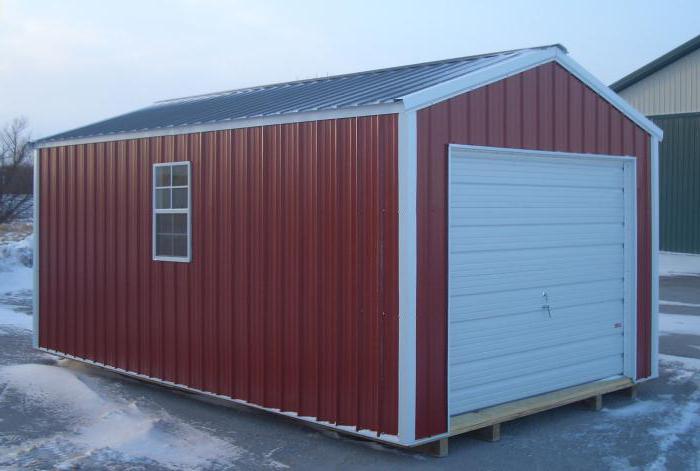 Velikost železné garáže