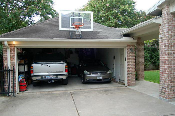 Величина одвојене гараже за два аутомобила