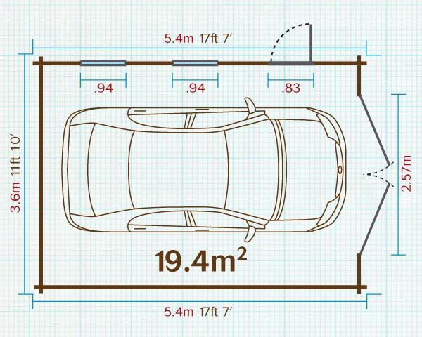Standardowy rozmiar garażu