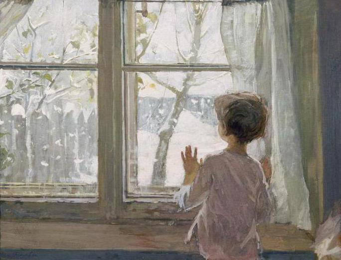 un saggio sulla foto dell'inverno è venuto all'infanzia