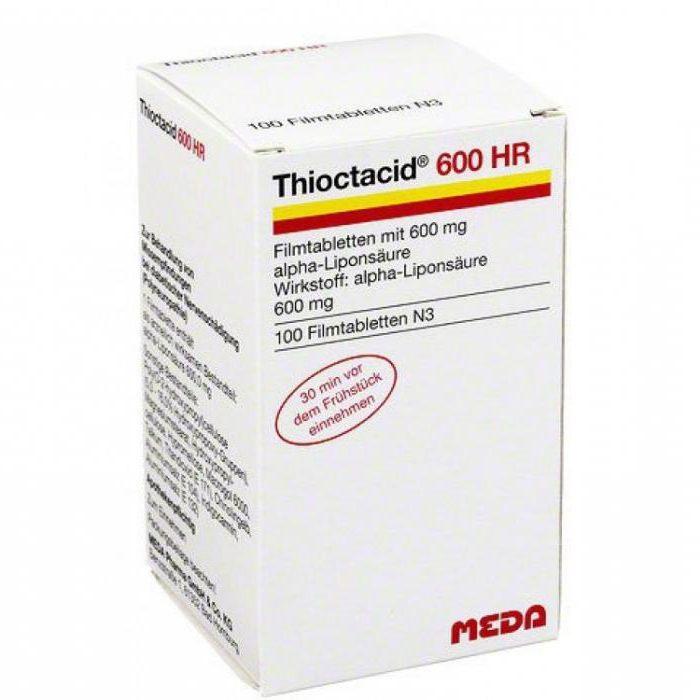 Thioctacid BV 600 инструкции за употреба