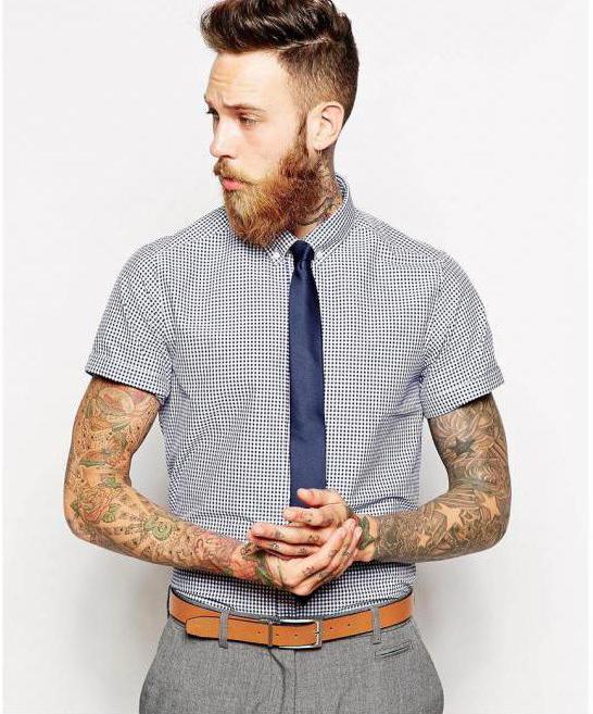 krawat z koszula z krótkim rękawem do ukończenia szkoły