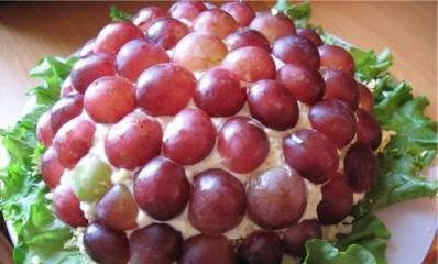 Tiffany salata s grožđem