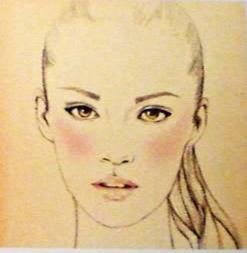 jak aplikovat blush na oválnou tvář