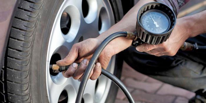 tlak u gumama na veličinu gume