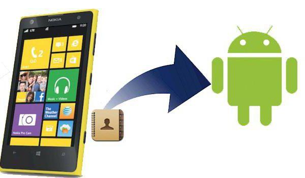 прехвърляне на контакти от android към windows phone