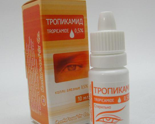 Tropicamide per via endovenosa