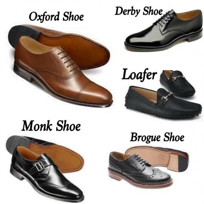 tipi di titoli di scarpe da uomo con foto