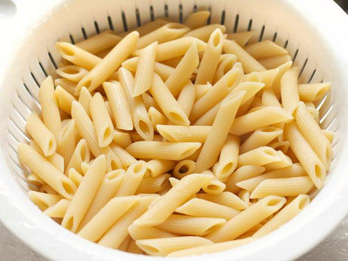 "Tipi di maccheroni ""Barilla"""