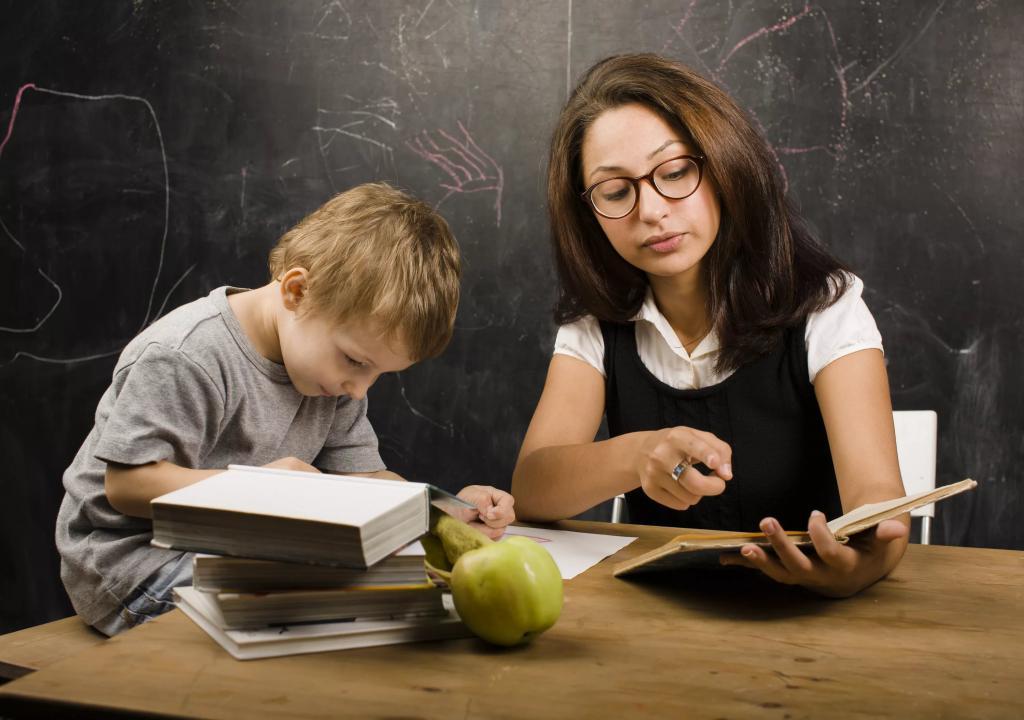 Učitelj razlaga nalogo