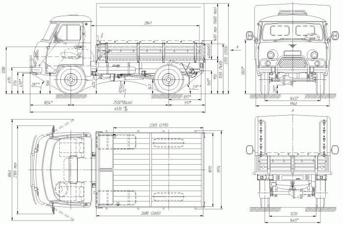 Specifiche UAZ 3303