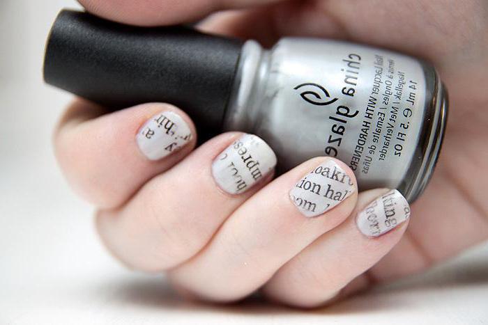 Foto di manicure insolita