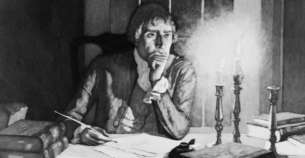 Jefferson piše Izjavu o neovisnosti