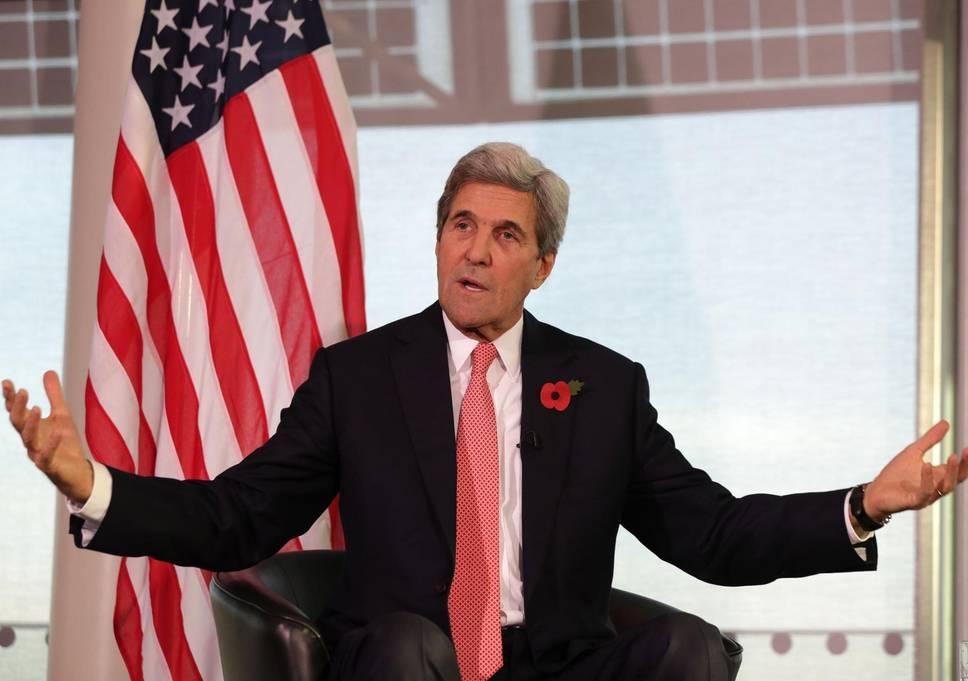 Segretario di Stato alla conferenza stampa