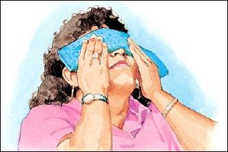 ukąszenie midge w oczy