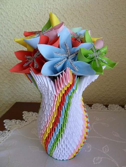 vaso origami da moduli
