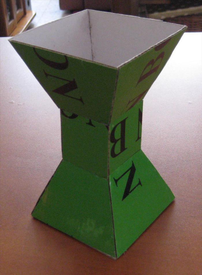 vaso di carta ondulata