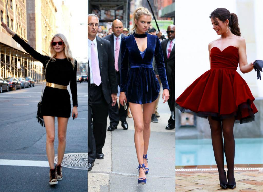 Il vestito di velluto può essere la cosa di base