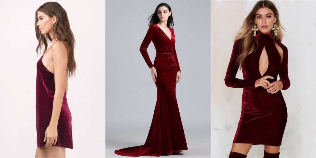 L'abito di velluto rosso è perfetto per gli appuntamenti!