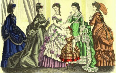Odzież w stylu wiktoriańskim XIX wieku
