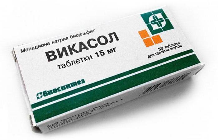 Tablety přípravku Vikasol tablety