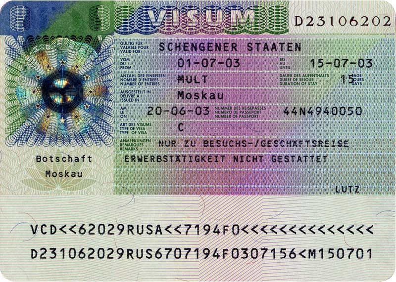 Domanda di visto per l'Austria