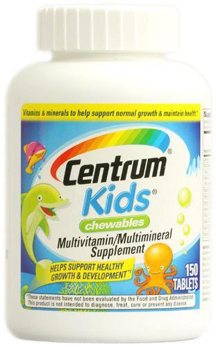 Istruzione vitamine Centrum per bambini