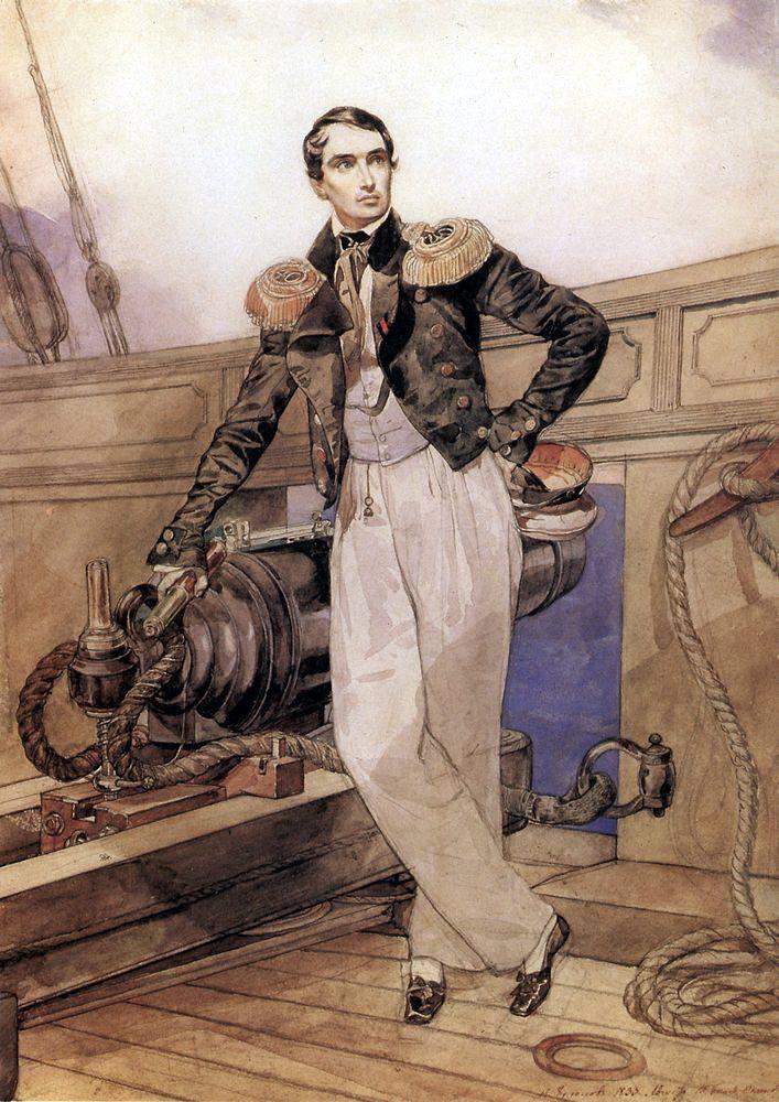 Портрет на Корнилов от Брюллов