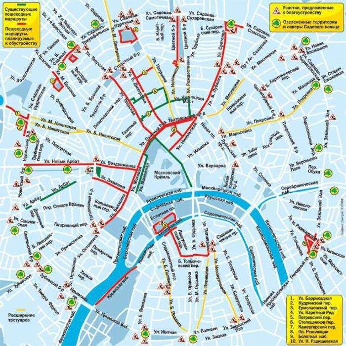 пешеходни маршрути в Москва