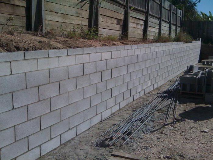 ГОСТ блокове от клетъчна бетонна стена малки