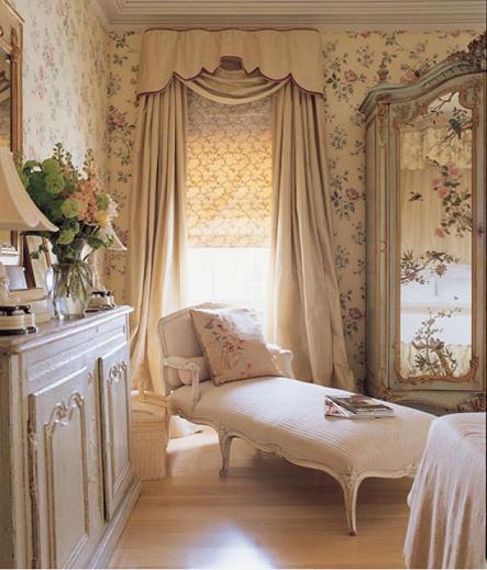 carta da parati in stile provenzale per la camera da letto