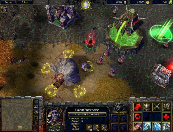 codici per il gioco warcraft frozen 3