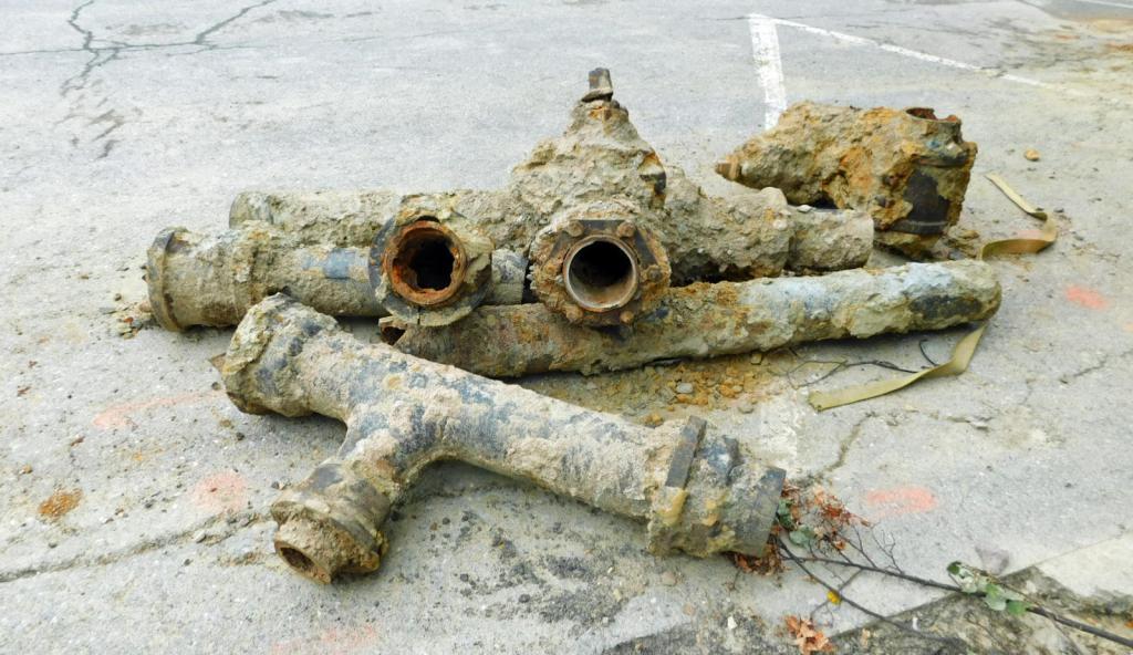 vecchio tubo dell'acqua